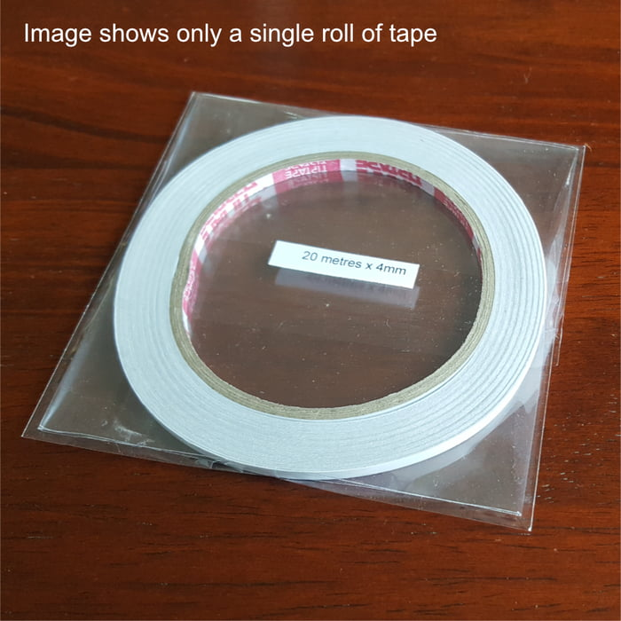 Twin Pack 4mm wide Double Sided Tape