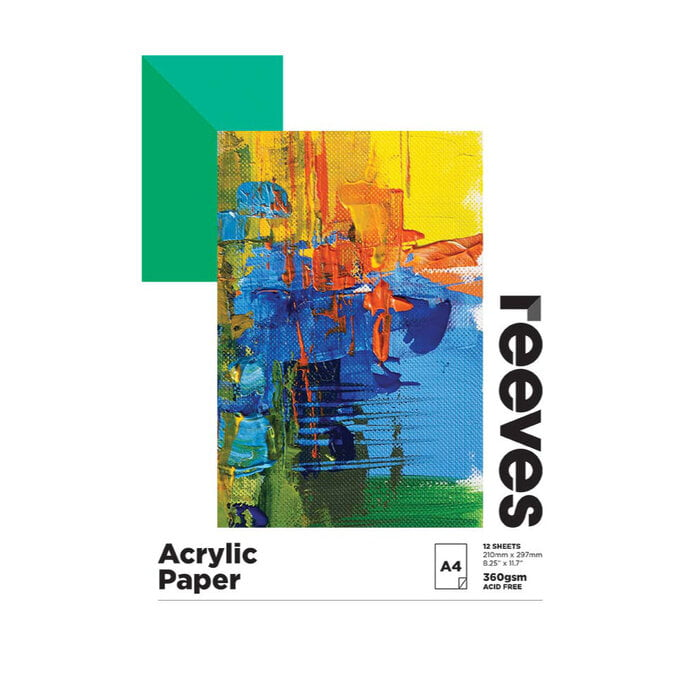 Reeves Acrylic Pad A4 360gsm 12 Sheets